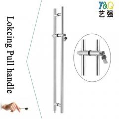 luxury door handle with lock