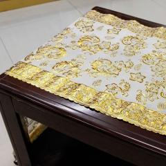 PVC gold/silver long lace mat, 50cm PVC lace long mat, PVC long lace