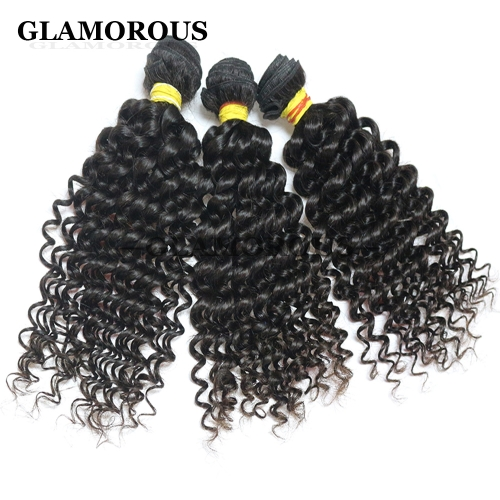 Virgin Mongolian Jerry Curly Human Hair Extensions