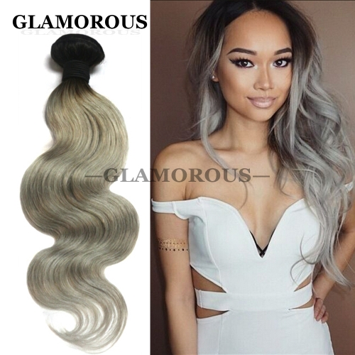 Grey Hair Body Wave 12-26 inches 100% Virgin Full Cuticles Brazilian Human Hair Extensions