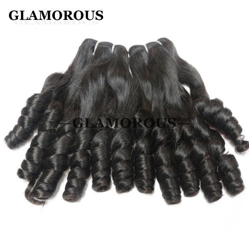 Hot Sale Unprocessed Virgin Brazilian Aunty Baby Curly Human Hair Extensions