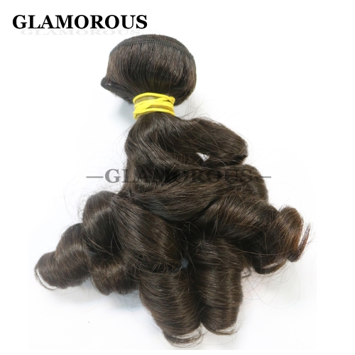 Unprocessed Virgin Brazilian Aunty Bouncy Curly Human Hair Extensions