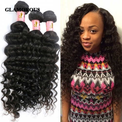 100% Virgin Brazilian Deep Body Wave Human Hair Weaving