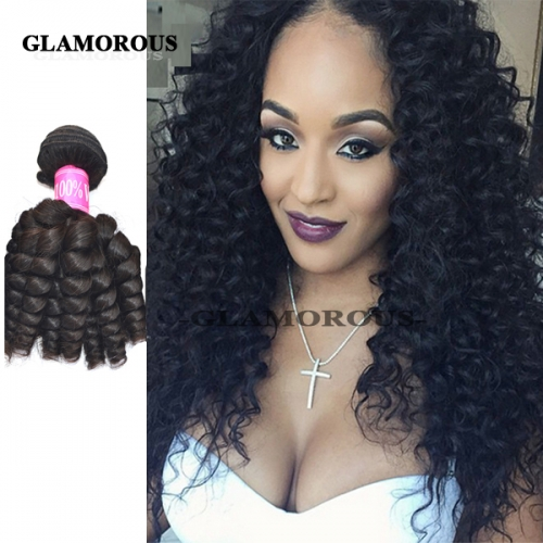 Popular 8-34 inches Unprocessed Virgin Brazilian Baby Curly Human Hair Weaving/Virgin Human Hair Extension
