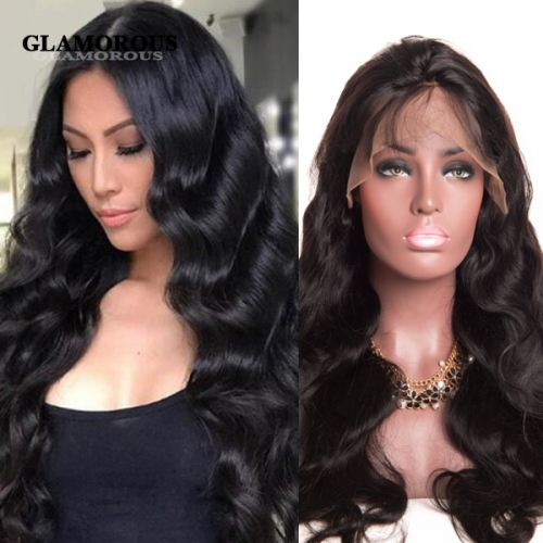 Natural Hair Line with Baby Hair 100% Virgin Human Hair Full Lace Wigs