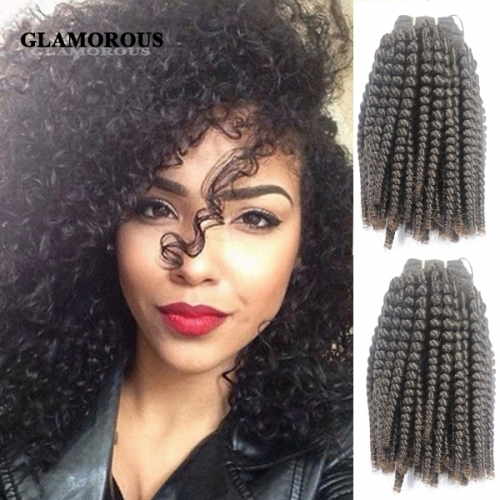8-34 inches Unprocessed Virgin Kinky Curly Full Cuticles Human Hair