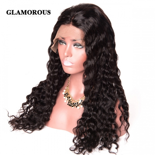 Deep Curly Lace Front Wig 100% Virgin Human Hair Lace Wigs
