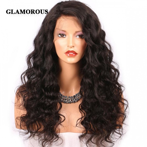 Natural Wave Lace Front Wig 100% Virgin Human Hair Lace Wigs