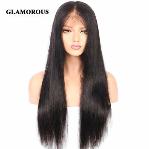 Silky Straight Lace Front Wig 100% Virgin Human Hair Lace Wigs
