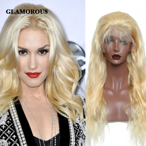 Full 613 Blonde Bodywave 100% Virgin Human Hair Full Lace Wigs