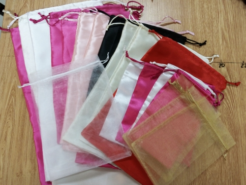 Customized Satin Bags 100pcs
