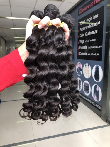 Unprocessed Virgin Human Hair Weaving Rose Curl