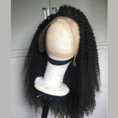 180% density thick Afro Kinky Curly front lace wig ready to ship