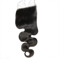 Natural black Body Wave 5x5 HD lace closure,100% Virgin Human Hair