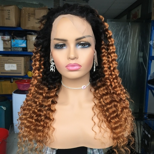 1b/30 deep wave front lace wig on sale