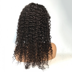 Deep wave lace front wigs human hair wig virgin unprocessed hair for women