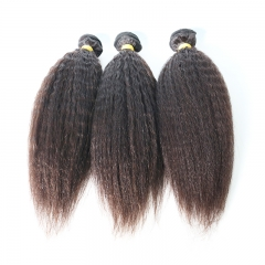 Kinky straight human hair bundles 10A high quality virgin Brazilian hair