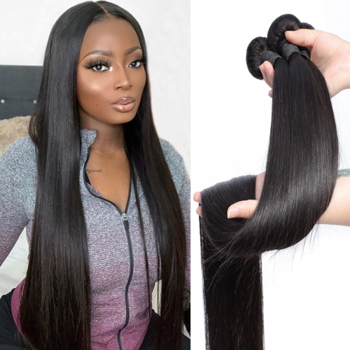 "100% virgin human hair straight 8"" to 30"" available in 1 bundle and 3 bundles"