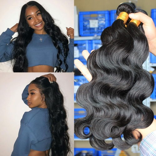 Top quality body wave weaves in peruvian brazilian indian etc