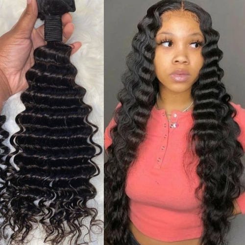 No tangle no shedding best selling deep wave 100% virgin human hair in 1 bundles and 3 bundles