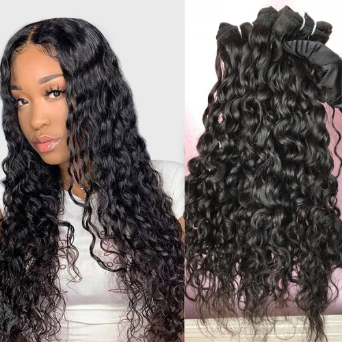 "Water Wave 8"" to 30"" Available  Hair Extensions For Black Women Human Hair Bundles"