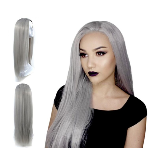 "Best Quality Gray Straight Frontal Wig 10"" To 30"" Available"