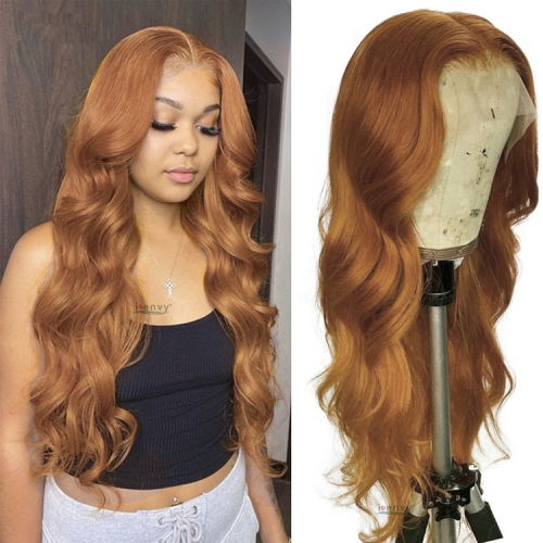 Blonde Highlight Lace Front Human Hair Wigs Body Wave  180%