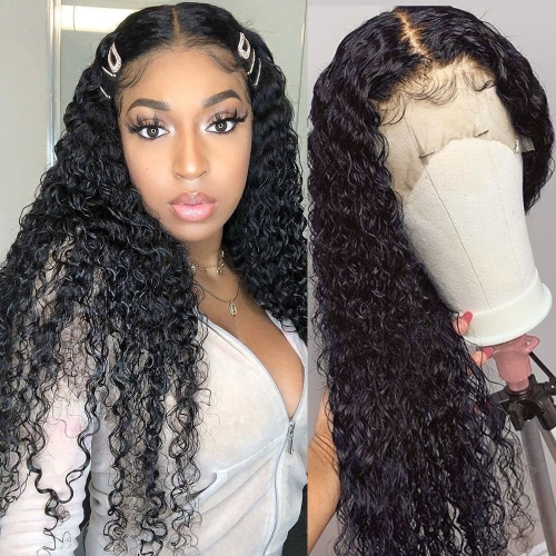 "100% Virgin Human Hair Full Lace Wig 10""-30"" Inch Water Wave 150% Density"
