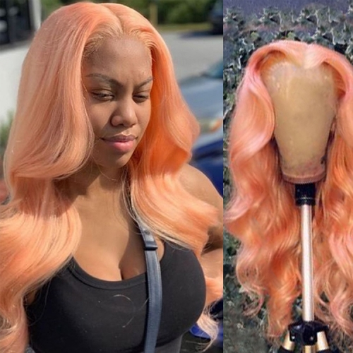 10-30 Inch   Lace Wigs  Frontal  Wig Pink Wig