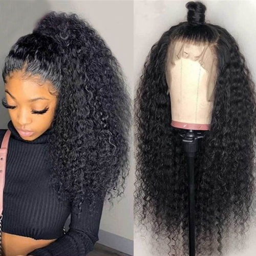 "150% Density 10"" To 30"" Available Kinky Curly Full Lace Wig"
