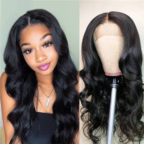 4X4  Natural Wave Lace Closure Human Hair Wigs 10-30 Inch