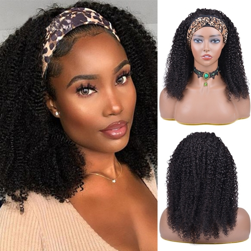 Top Quality Best Price Kinky Curly Headband Wig Human Hair