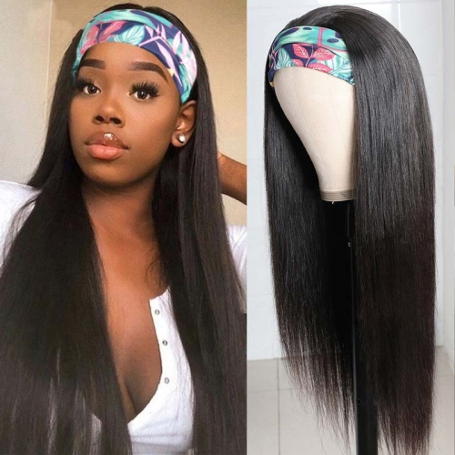 "100% Virgin Human Hair Straight Headband Wig 10"" To 30"" Available"