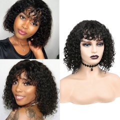 Top Quality Deep Wave Regular Wig No lace In Brazilian Peruvian Indian Etc