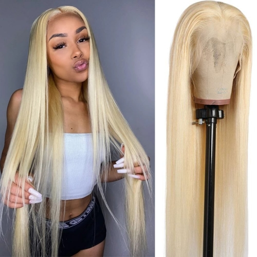 613 Straight Hair 13x6 Blonde Lace Front Human Hair Wigs for Women 150% Lace 613 frontal Wig