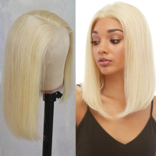 613 Straight Frontal Wigs 10-12 Inch150% Density On Sale