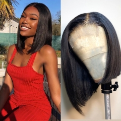 Straight Short Bob 4x4 Lace Closure Wigs For Women Human Hair On Sale
