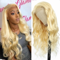 "100% Virgin Human Hair 613 Body Wave 4x4 closure wig 12"" To 30"" Available"
