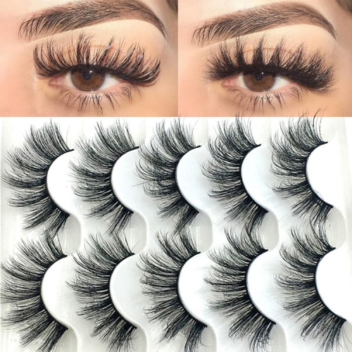 3D  Mink Eyelashes Natural Thick Long False 25mm For Makeup  Beauty