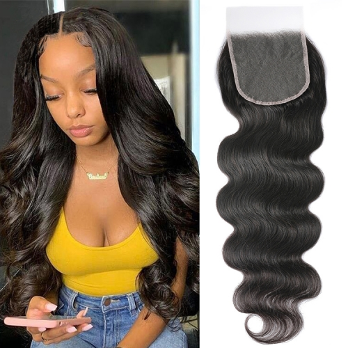 "100% Virgin Human Hair Best Sales 10"" To 20"" Available 6x6 Transparent Lace Closure"
