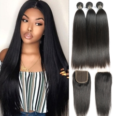 Straight Bundles With 6x6 Closure In Indian Peruvian Brazilian Etc