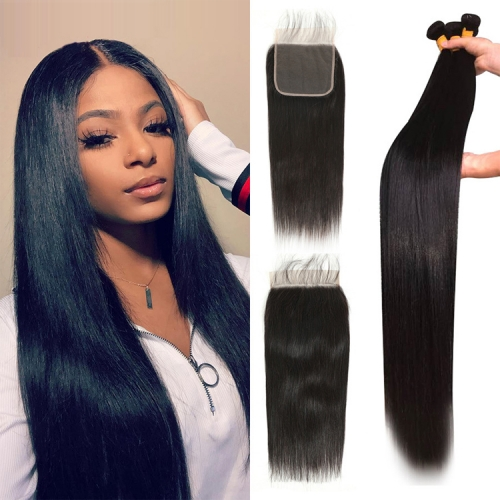 Top Quality Straight Bundles With 5x5 Closure