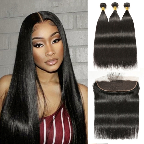 Best Selling Straight Bundles With 13x6 Frontal