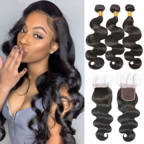 Top Quality Body wave Bundles With 5x5 Closure