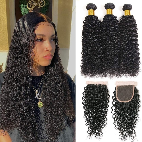 Top Quality Water  wave Bundles With 5x5 Closure