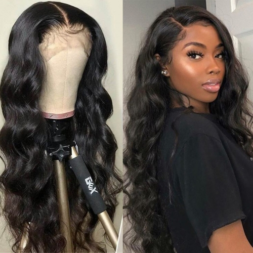 30 Inches Natural Wave 13x4 Frontal Wig 180 Density  On Sale