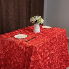 50'×80'丨3D Rosette Tablecloth with 6Colors