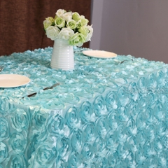 90'×156'丨 3D Rosette Tablecloth with 6Colors