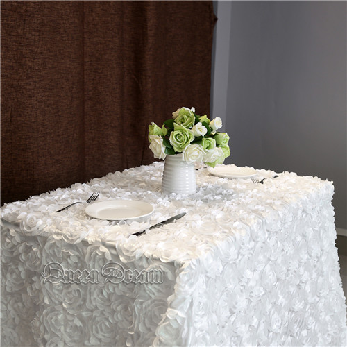 90'×132'丨 3D Rosette Tablecloth with 6Colors