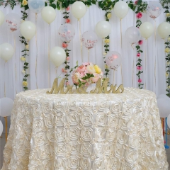 Round120'丨Rosette Tablecloth in 3D
